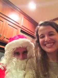 Lisa's dad as Santa